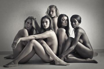 five nude women