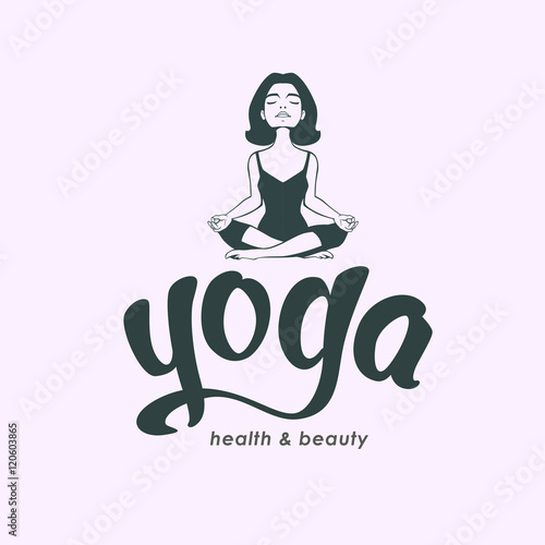 Quot young woman practicing yoga girl do lotus pose