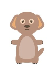 Funny dog character