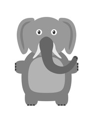 Funny elephant character