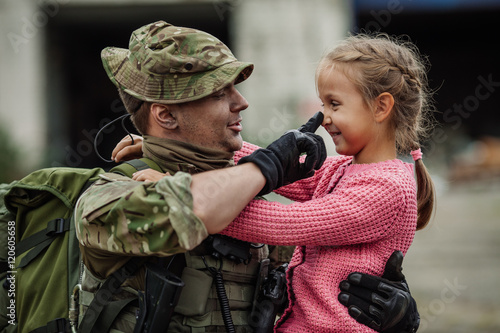 Image result for army father and daughter pic