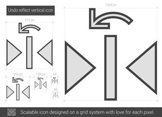 Undo reflect vertical line icon.