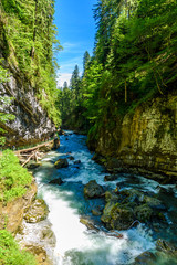 Breitachklamm - Gorge with river in South of Germany