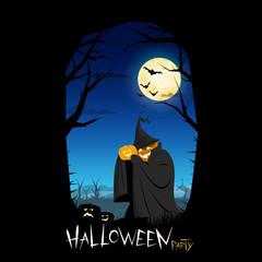 Flyer Design Halloween party.