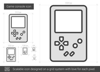 Game console line icon.
