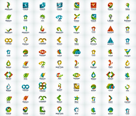 Logo set, abstract business icons