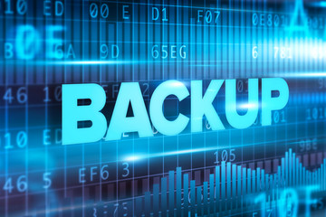Backup abstract concept blue text blue background