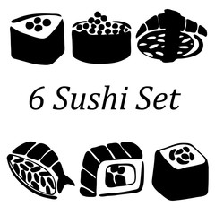 Very high quality original trendy  vector illustration of sushi