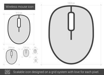 Wireless mouse line icon.