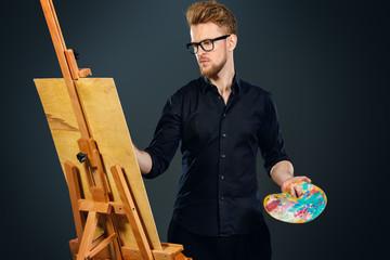 artist in the workshop