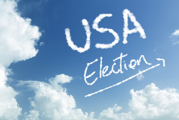 USA Election written in the sky
