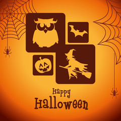 poster halloween party design isolated vector illustration eps 10