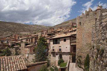 Municipio de Albarracín en la provincia de Teruel, España