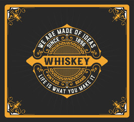 sg0000Whiskey label with old frames. Vector layered