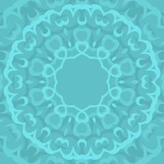 Circle seamless ornamental geometric arabic pattern on blue background