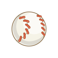 Baseball ball icon in cartoon style isolated on white background vector illustration