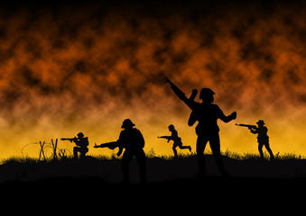 Vietnam War battle - Artist recreation