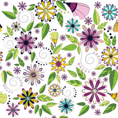 pattern of colorful flowers