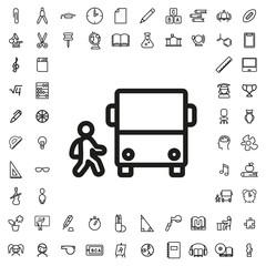Bus and child icon illustration