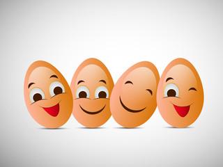 Illustration of Eggs for World Egg Dayv
