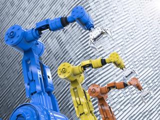 three robotic arms