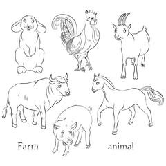 bull-cock-goat-horse-pig-rabbit