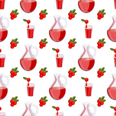 Seamless pattern with cranberry.