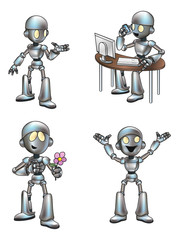 Cute Cartoon Robot Mascot
