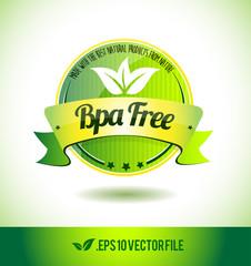 Bpa free badge label seal text tag word