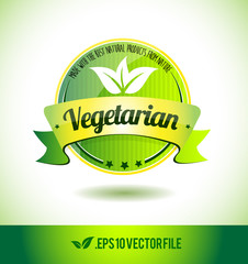 Vegetarian badge label seal text tag word