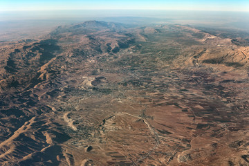 Aerial view of Beqaa Valley, Lebanon