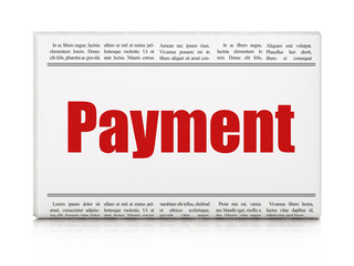 Currency concept: newspaper headline Payment