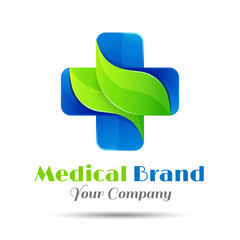 Medical pharmacy logo design template. Vector illustrator Creative colorful abstract illustration for your business company
