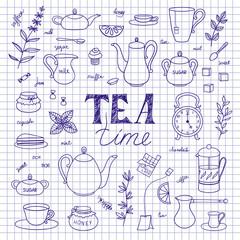 Set of tea time
