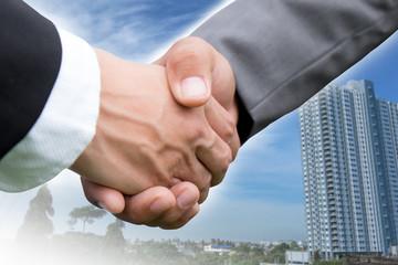 Handshake for business.