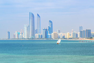 Cityscape of Abu Dhabi, the capital city of United Arab Emirates
