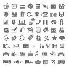 Black Icons - Shopping Delivery Logistics