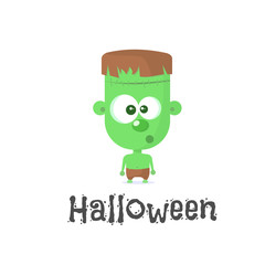 Halloween character - Frankenstein. Vector illustration