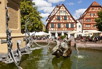 Ladenburg, famous medieval Town near Heidelberg, Germany
