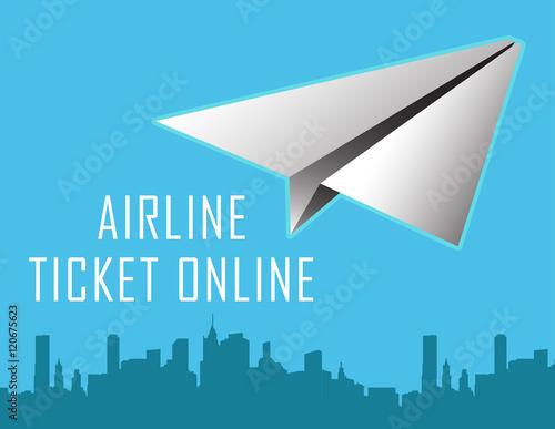 Vector design template with plane online design eliments for Design a plane online