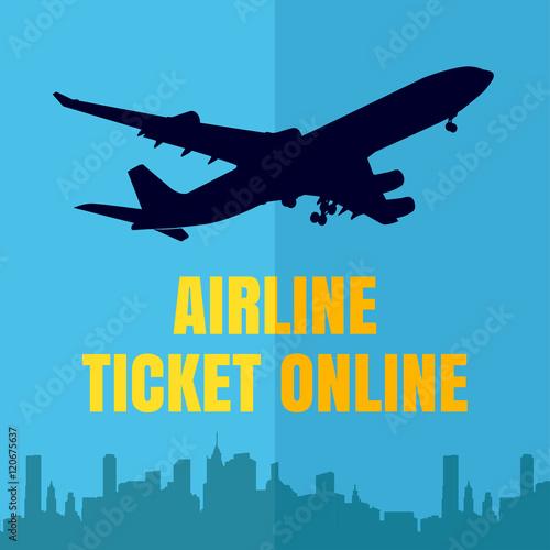 Vector Design Template With Plane Online Design Eliments