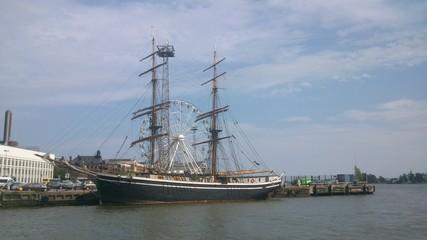 Beautiful vessel in Helsinki harbour