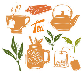 Tea time illustration