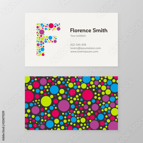 Modern letter f circle business card template stock image and modern letter f circle business card template cheaphphosting Choice Image