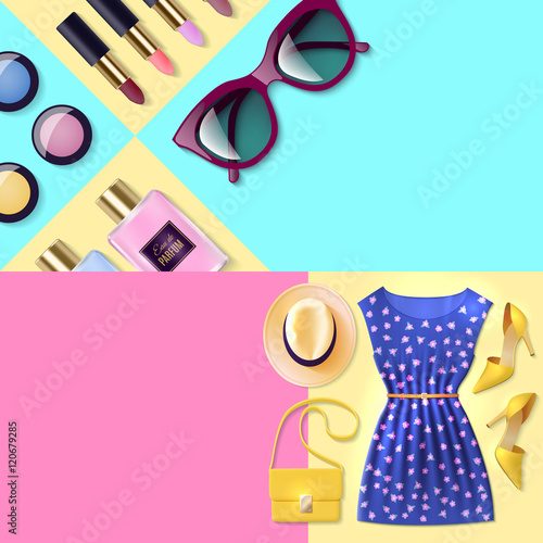 quotwoman clothing bannerquot stock image and royaltyfree