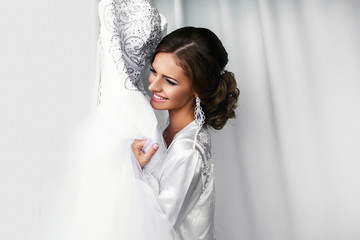 Pretty stylish bride portrait