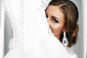 Pretty stylish bride portrait