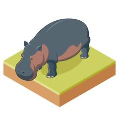 Hippo isometric icon2