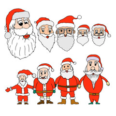 Set of santa claus