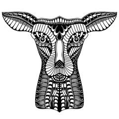 Deer head tattoo mehendi